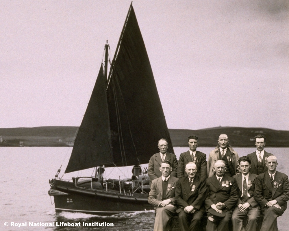 Gold medal rescue crew, Arranmore Island