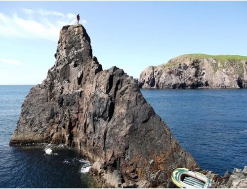 Rock climbing on Arranmore Island